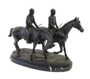 A French cast bronze sculpture after Emmanuel Fremiet