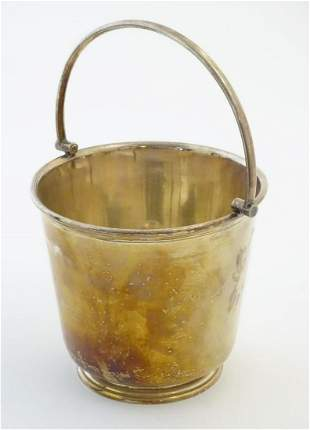 A 20thC James Dixon & Sons silver plated ice bucket,