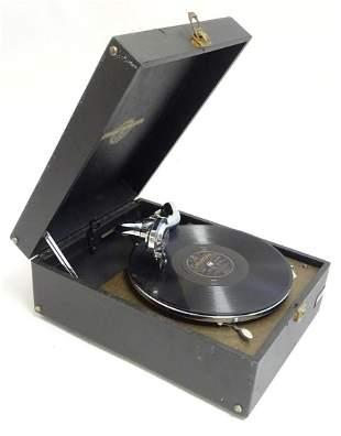 A Columbia Grafonola portable gramophone / phonograph,