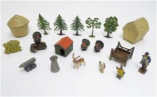 Toys: A quantity of 20thC Britains lead etc. farmyard