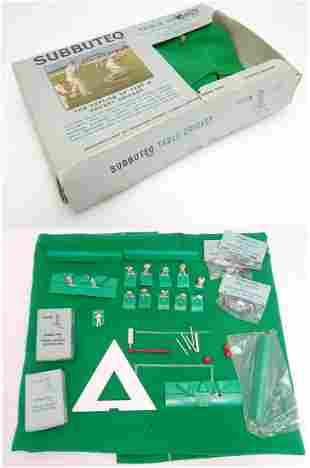 Toys: A 20thC boxed Subbuteo table cricket set (Display