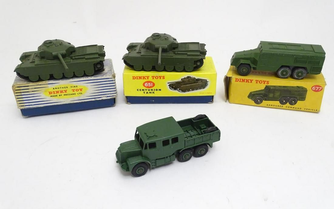 Toys: A collection of 20thC Dinky Toy military