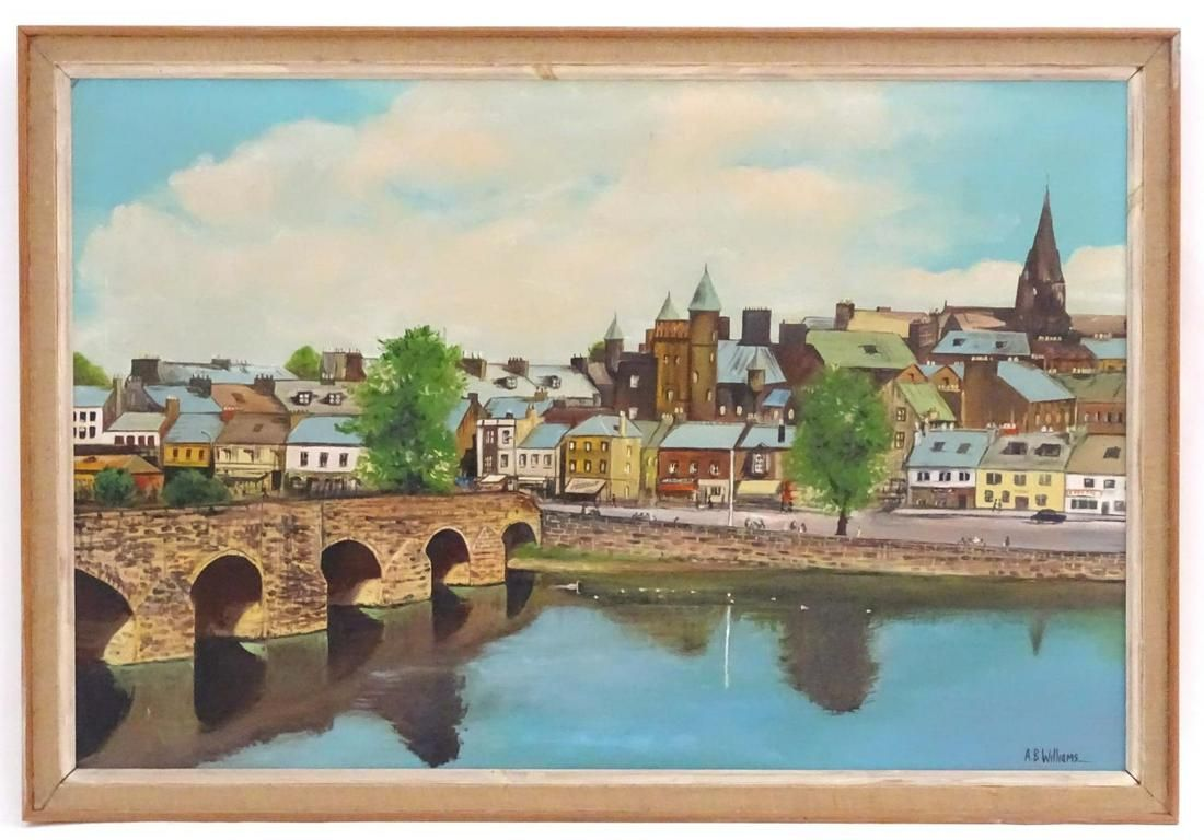 A. B. Williams, 20th century, Oil on canvas, A