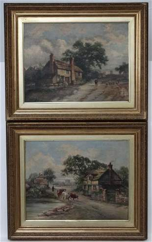 19th century, English School, Oils on canvas, A pair of
