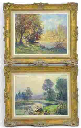 Eugene Demester (1914-1984), French School, Oils on