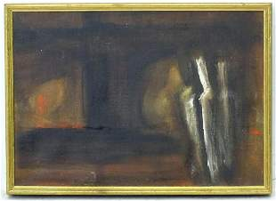 Daphne Reynolds (1918-2002), Oil on canvas, Watching