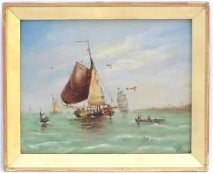 W. G. Harvey, 19th century, Dutch fishing gaffs / boats