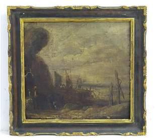 19th century, English School, Oil on canvas laid on
