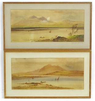 William Henry Earp (1833-1914), Watercolour, A pair of