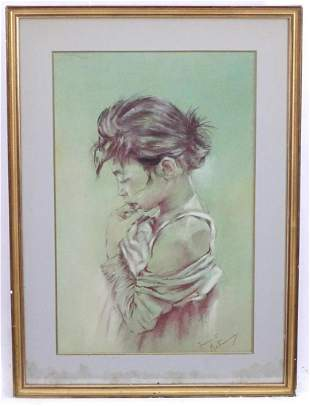 Franco Matania (1922-2006), Italian School, Pastel, A