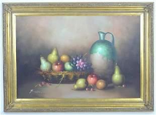 Frank Lean, 20th century, Oil on canvas, A still life