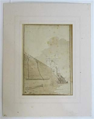 Continental School, 18th century, Pen, ink and wash, A
