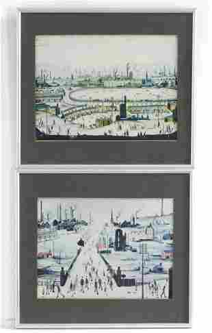 After Laurence Stephen Lowry (1887-1976), Two colour
