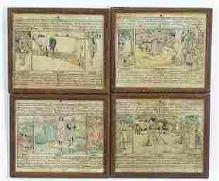 A set of four early 20th century English calendar