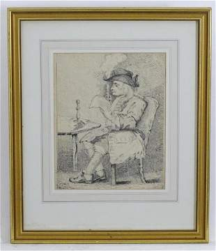 After William Hogarth (1697-1764), 19th century, Pen