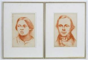 19th / 20th century, Sanguine / Red chalk on paper, A