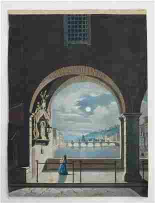 Early 20th century, Italian School, Watercolour, A