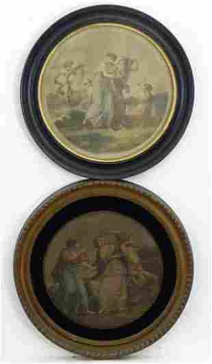 Two tondo engravings to include The Beauty, Tried by