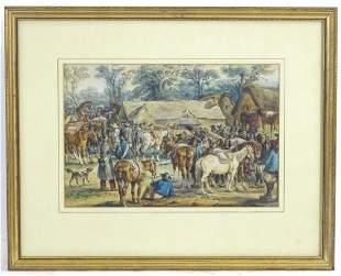 19th century, Continental School, Watercolour, The