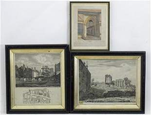 Three 18th century and later engravings comprising A