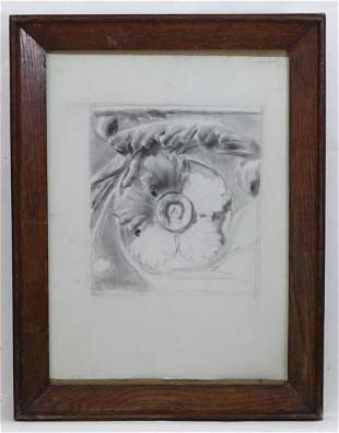 Nora Hooton, 19th century, Charcoal on paper, A study