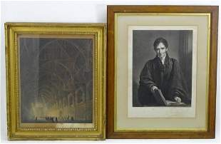 Two 19th century engravings comprising Internal View of