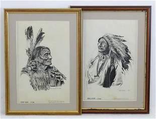 After Bob Dale (1927-2015), Western Art prints, A pair