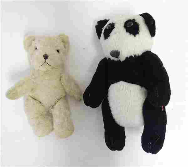 Toys: Two 20thC bears, comprising a panda bear with