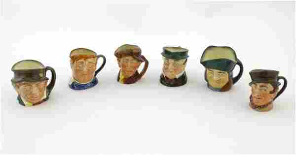 Six Royal Doulton Toby / character jugs, to include Fat