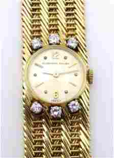 Audemars Piguet : A ladies 18ct gold cased manual wind