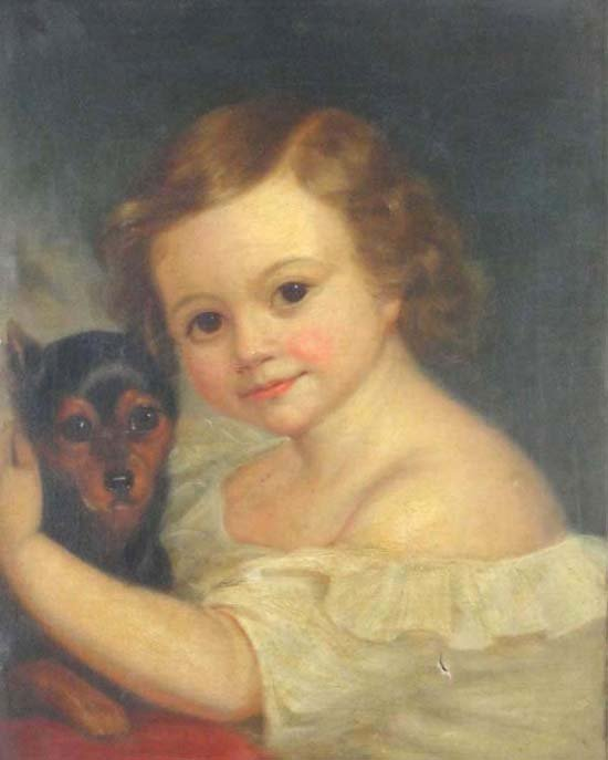 14: (1837 ) English School Oil on canvas Portrait of  '