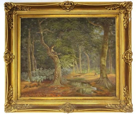 18: Mary C. Hennell (XIX) Oil on canvas ' Beech Wood, B