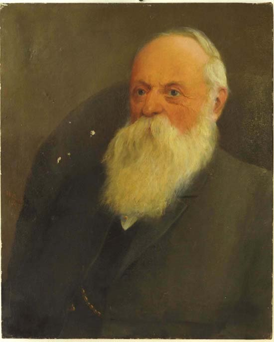 20: W. Cutlan 1907 Oil on canvas Portrait of an old man