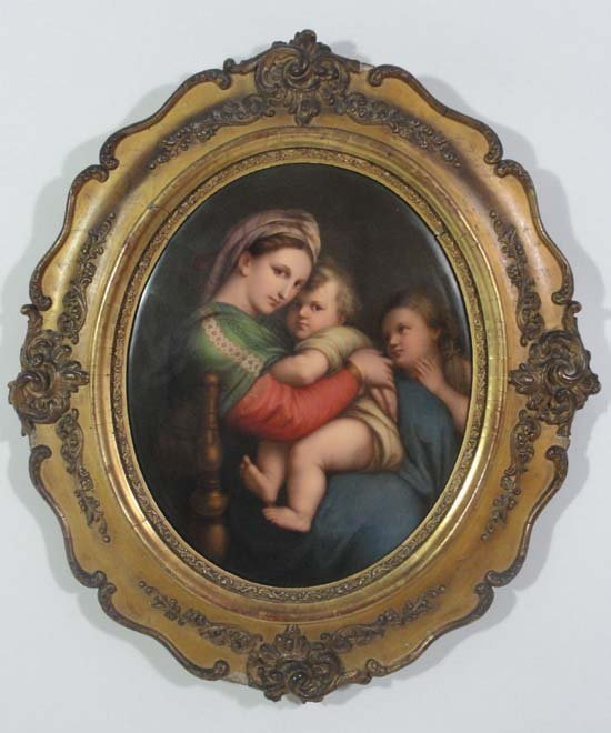 370: A late 19thC KPM Berlin oval plaque finely painted