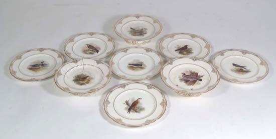 372: A mid 19thC Kerr & Binns Worcester porcelain ornit
