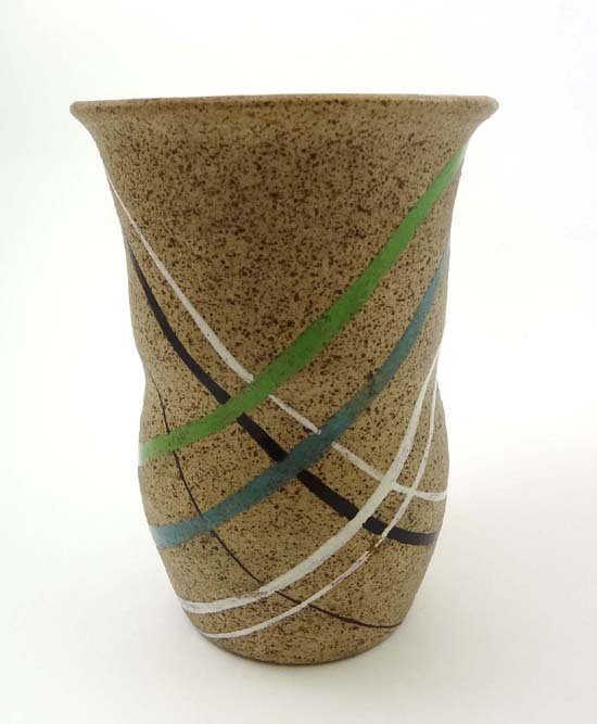 387: A Clarice Cliff Goldstone vase from the Bizarre ra