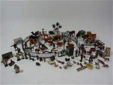 805: Toys : A quantity of old painted lead figures, som