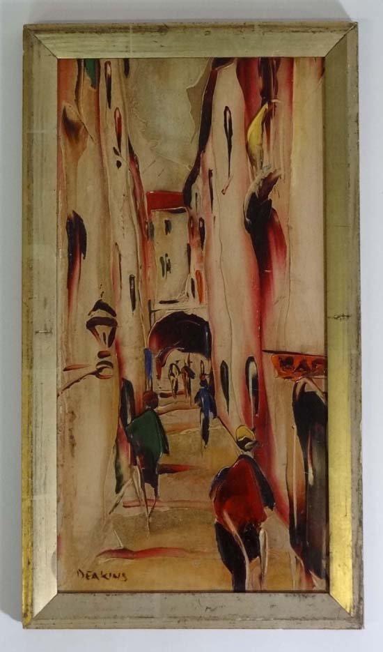 4: George Richard Deakins (1911-?) Acrylic on board Med