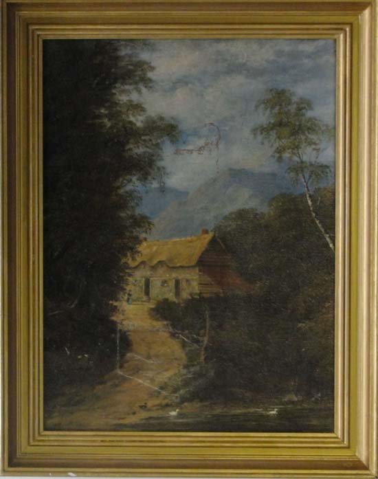 7: F M Edmunds XIX -XX Oil on canvas Farmhouse before m