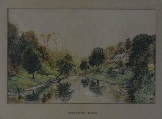 13: A Powell XIX Watercolour ' Matlock Bath ' Signed wi
