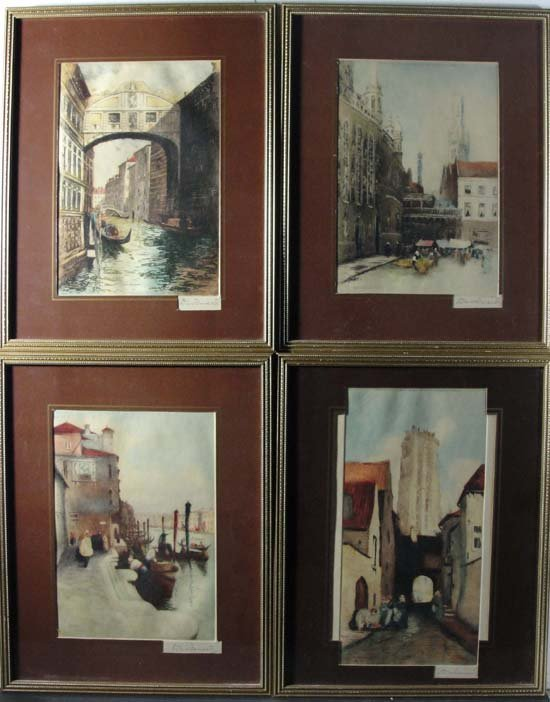 17: David Donald ( fl. c. 1895-1925) Set of 4 hand colo