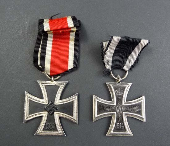 236: Medals : A WII German second class Iron Cross toge