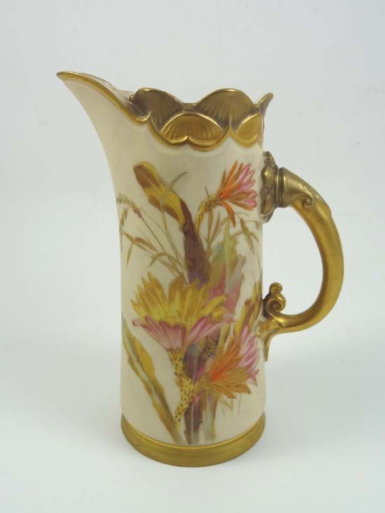 355: A Royal Worcester vase, shape 1229, painted with c