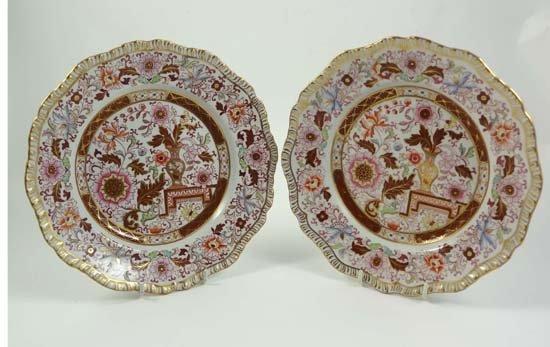 371: A pair of 19thC Ashworths Real Ironstone plates de