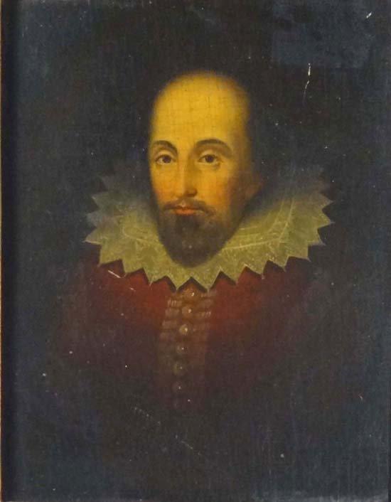 1: Late XVIII Portrait Oil on panel William Shakespeare