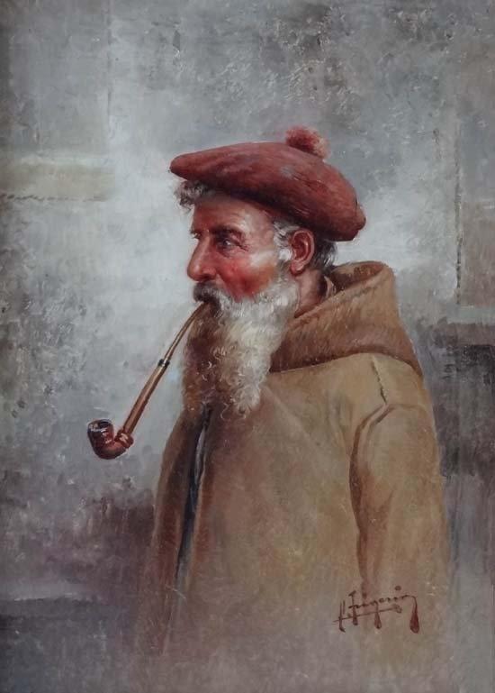 7: Raffaele Frigerio (XIX-XX), Italian school Oil on ca