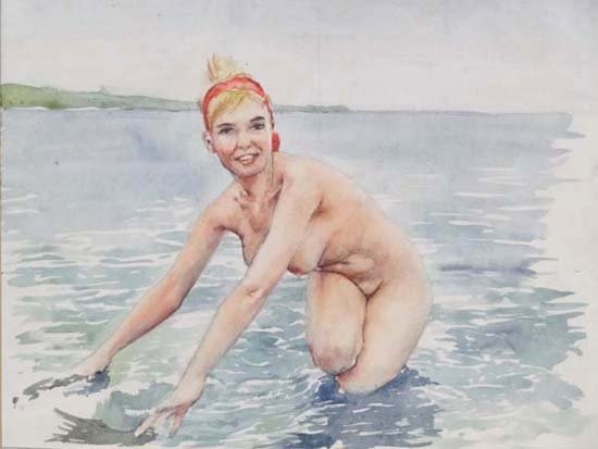 11: Wilfred Glyndon May (1922-2007) Watercolour Nude in