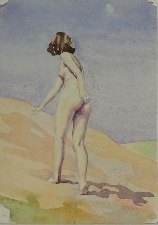 14: Wilfred Glyndon May (1922-2007) Watercolour Nude on