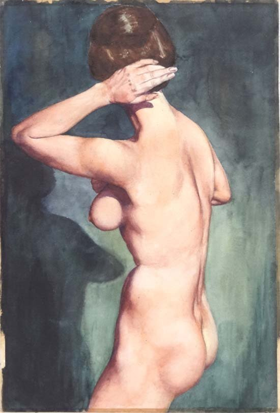 19: Wilfred Glyndon May (1922-2007) Watercolour 1950's