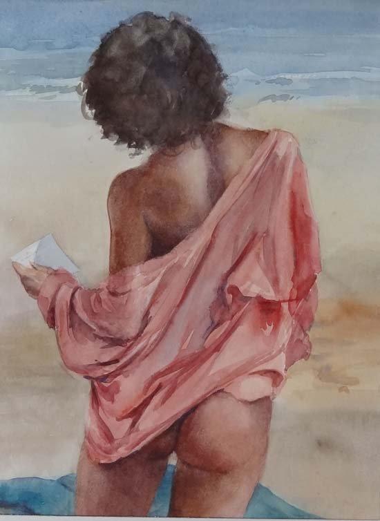 20: Wilfred Glyndon May (1922-2007) Watercolour 'Laura'